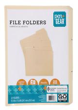 Durable Manila File Letter Size Folders Pendaflex Cut Smead Folder 25 Pack