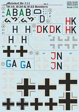 imprimé Échelle 1/72 Heinkel He 111H-16,Il 111H-20 & Il 111H-22 Bombardiers #