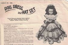 American Thread Co DOLL DRESS & HAT SET Pattern Leaflet 1026 Vintage