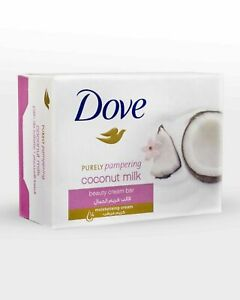 3 x Dove Soap Coconut Milk Beauty Cream Bar 100g Purely Pampering Free shipping