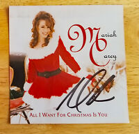 MARIAH CAREY HAND SIGNED AUTOGRAPHED ALL I WANT FOR CHRISTMAS CD COVER WITH COA