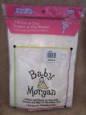 Baby Morgan White Ultimate Receiving Blanket