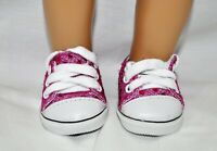Fits Our Generation American Girl Doll Journey 18 Dolls Hot Pink Sequin Sneakers