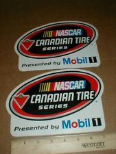 """2 VTG Nascar Canadian Tires Series Mobil 1 Oil Gasoline Racing decal stickers 8"""""""