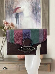 COACH Jade Medium Envelope Wallet with Piercing in Oxblood / Burgundy #91749