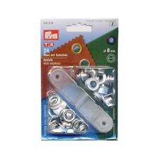 Prym Metal Eyelets & Washers - 8mm Silver #541374