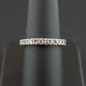 (SO4) Silver 925 Cubic Zirconia Half Eternity Ring Size N