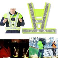 Bright Yellow Hi Vis Vest High Viz Visibility Waistcoat Reflective Safety Top GA