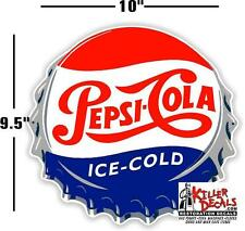 "10"" Pepsi Cap Single Dot Ice Cold Soda Pop Vending Machine Cooler Or Gumball"