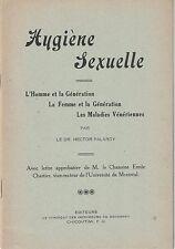 HYGIÈNE SEXUELLE.  PAR LE DR HECTOR PALARDY.