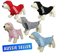 DOG JUMPER SWEATER HOODIE CLOTHING FOR SMALL DOGS IN 5 COLORS  COTTON IN 5 SIZES
