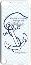 Chevron Faith Anchor Philippians 4:13 on iPod Touch 5th Gen 5G White TPU Case