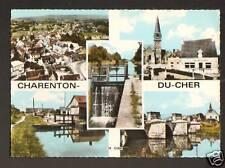 CHARENTON-du-CHER (18) CANAL, ECLUSE, BANQUE & aérienne