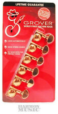 Grover 406G6 6 In-Line Gold Self Lock Tuning Machine Heads Fender Locking Tuners