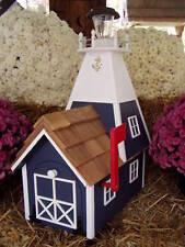 Amish Handmade Rural Mailbox Solar Lighthouse Dk Blue Homemade Handcrafted
