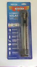 New! VIM Hybrid Solar Flashlight w/Rechargeable Battery Backup 150 Lumens HSF150