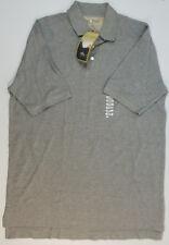 Sun River Shirt Polo Top Pique Knit Short Sleeve Solid Gray Size M 100% Cotton