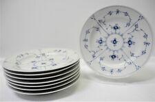 Royal Copenhagen Blue Fluted 8 Plain Dinner Plates #175