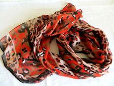 Oliver tolle Schal Leopard Muster rot schwarz ca. 180x77 cm neu