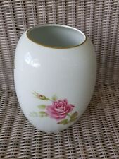 Rosenthal Germany Vase Pink Moosrose With Red Stamp