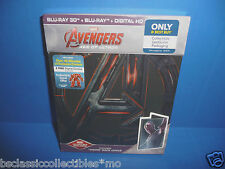 Marvel Avengers Age Of Ultron Blu-Ray 3D+Blu-Ray+Digital HD Vision Steelbook New