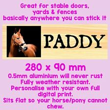 PERSONALISED STABLE METAL SIGN TIN HORSE PLAQUE BRUSH, YARD SIGN, TACK ROOM HOOF