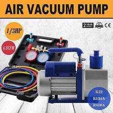 4.8CFM Vacuum Pump HVAC Refrigeration R22 R134A R410A 4 Hoses Oil Drain Adapter
