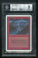 Lightning Bolt UNLIMITED BGS 9 QUAD Beckett GradedMINT Magic MTG