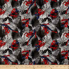 Marvel Spiderman Fabric-1/4 Yard 9�H x 42�W-100% Cotton-Quilting/Masks-Lic ensed