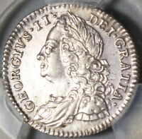 1750 PCGS AU Det George II 6 Pence Great Britain Silver Scarce Coin (20112501D)