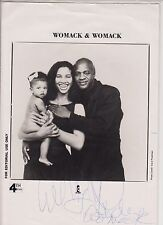 """Womack And Womack  SIGNED 10"""" x 8"""" PHOTO CARD"""