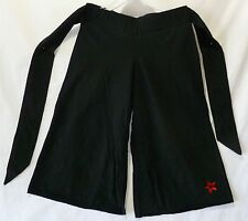 Gauchos Cropped Pants Black small (8) by American Girl 95% Cotton 5% Spandex