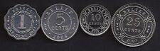 BELIZE 1-25 Cents 2000-07 KM33-116 4 pc. Coin Set UNC