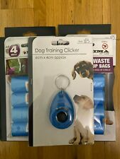 Set of 5 pcs Pet Dog Waste Bags 2 Pickup Bags 2 Scented Bags +1 Dog Clicker Free