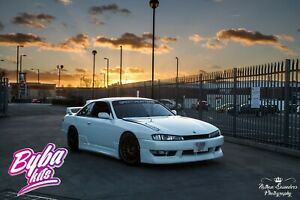 For Nissan 200sx S14a  Kouki style Fornt lip + side skirts + rear spats