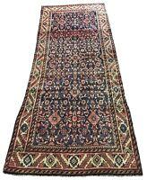 "Antique Hand Knotted wool rug bijar 464A 3'2""X8'"