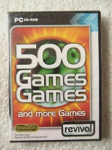 30073 - 500 Games, Games and More Games [NEW / SEALED] - PC () Windows 2000 REV0