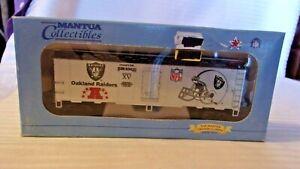 HO Scale Mantua 41' Box Car, Oakland Raiders Super Bowl Champions, Silver, BNOS