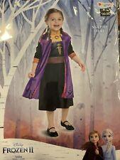 NEW Disney Girl's Frozen 2 Anna Halloween Costume Dress Up XS 3t-4t