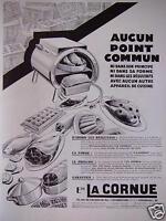 PUBLICITÉ LA CORNUE AUCUN POINT COMMUN