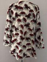 Alfani  Women's Top Plus Size 24W Multi-color floral  Blouse 3/4  Sleeves NWT$75