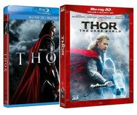 THOR + THOR:The Dark World (4 BLU-RAY 3D + 2D) MARVEL con Chris Hemsworth