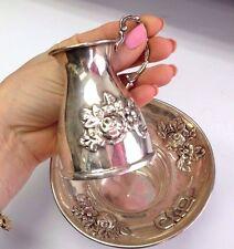 Hazorfim 925 Sterling Silver Judaica Mayim Achronim Handwash Small Pitcher
