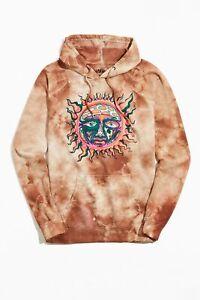 NWT Sublime Sun Graphic 1995 Summer Concert Tour Tie Dye Hoodie Sweatshirt sz S