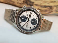 VERY RARE SEIKO PANDA CHRONOGRAPH 6138 8020 JAPAN AUTOMATIC MAN'S WATCH 691406