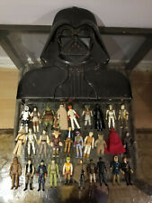 KENNER VINTAGE STAR WARS - 29 FIGURE LOT WITH DARTH VADER CASE, ANH ESB ROTJ