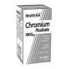HealthAid Chromium Picolinate 200ug 60 Tablets
