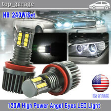 240W E92 H8 BMW CREE LED Angel Eyes For 07-12 E92 328i 335i Coupe M3 E93 E89 Z4