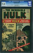 Hulk #4 CGC 7.0 1962 Origin! Avengers! Iron Man! Thor! E6 107 cm clean