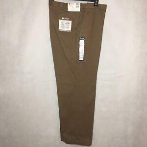 Haggar Polyester Charcoal  Luxury Comfort Classic Fit Flat Pants SR$68 NEW J.M